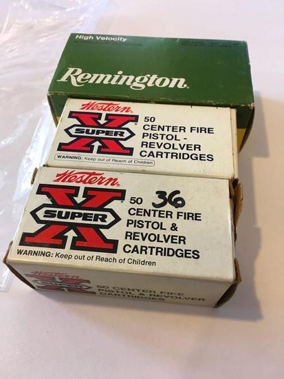 Ammo: Remington and Western X Super 357 magnum, 136 rounds