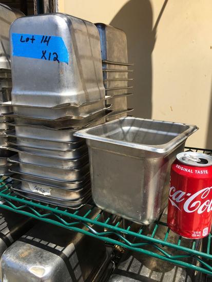 """S/S Food Pans, 1/6 x 6"""""""