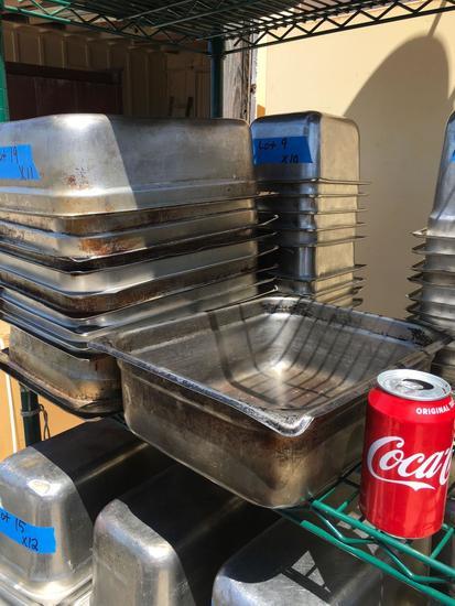"""S/S Food Pans, 1/3 x 6"""""""