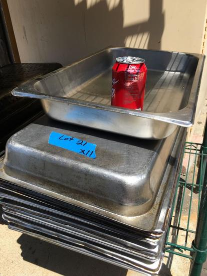 S/S Food Pans, full pans x 2½""
