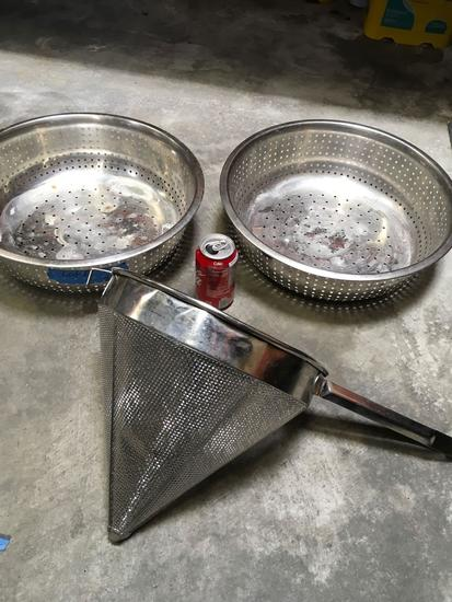 Stainless steel colander's in china cap