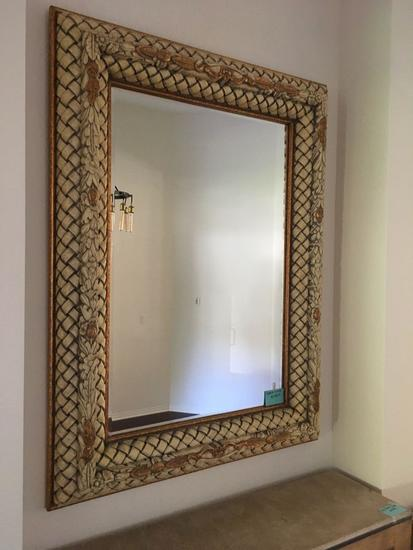 "58 1/2"" x 75"" x 6"" Large Foyer Mirror ( be sure to look at the accents in the frame )"
