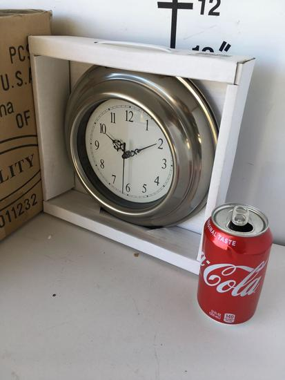 """New 10"""" stainless steel plated wall clock"""