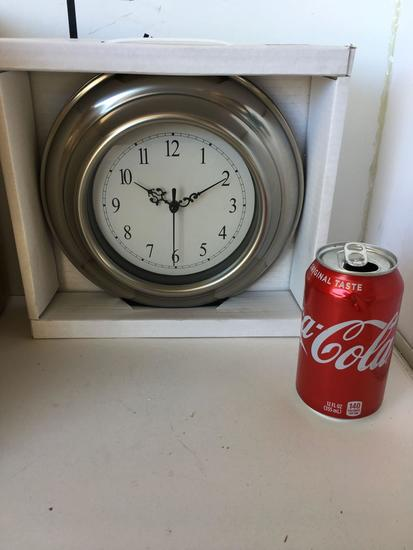 """10""""New stainless steel plated wall clock"""