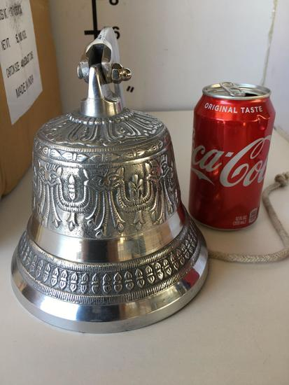 """New Nautical. 6"""", silver finish, bell"""