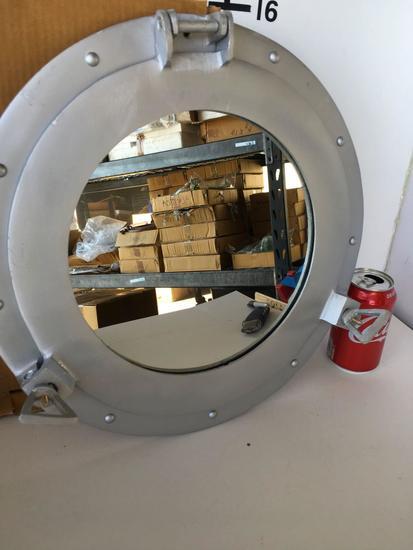 """New Nautical 15"""" Aluminum finish Porthole mirror/deco"""