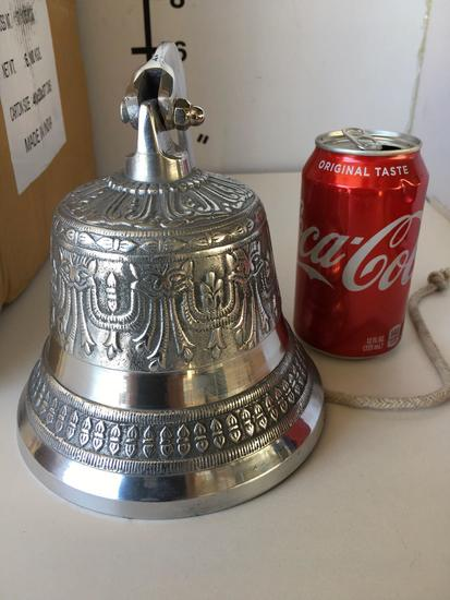 "New nautical. 6"" silver finish door bell"