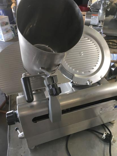 Globe 3850OP Automatic Slicer, W/ Sharpener & Veggie Chute    *WORKING *