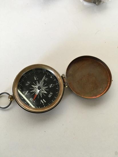 "New nautical, 2"", compass . Each box has 5 pieces"