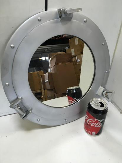 "New nautical. 15"" silver finish mirrored portholes"