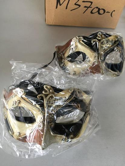 New black/beige/ brown , musical notes eye masks