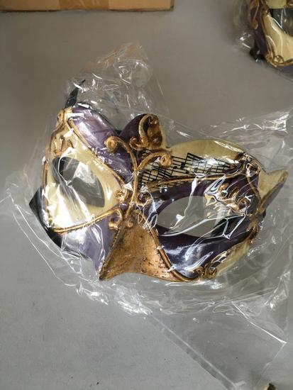 New purple/beige, musical notes eye masks