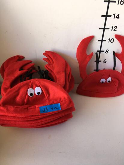 New crab hats. Size: One Size