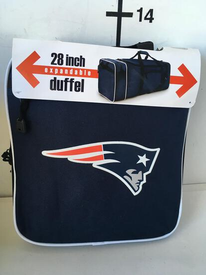 "Football team New 28"" New England Patriots Expandable duffel bag"