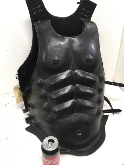 New leather like warrior vest, size fits most
