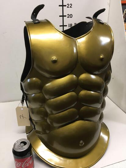 New metal gold finish warrior vest, size fits most
