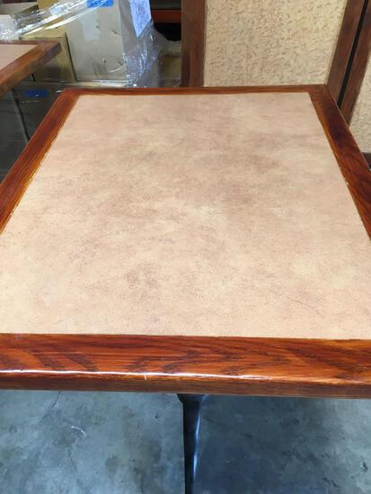 Dining table, 30 in x 48 in, with two legs, Handicap height