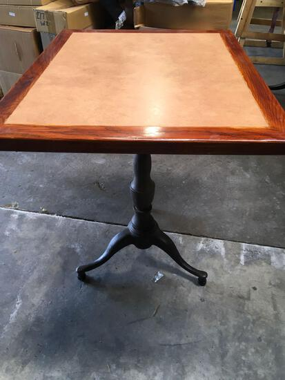 Dining tables, 24 in x 30 in, with ornate bases
