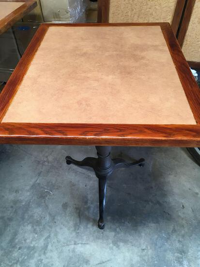 "Dining table, 30"" x 48""  with ornate base"