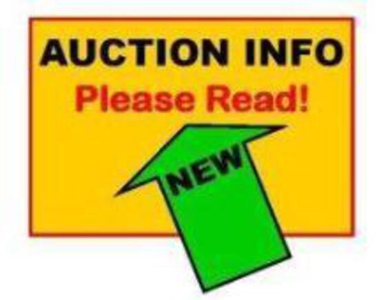 **IMPORTANT AUCTION INFORMATION. PLEASE READ. JBA DOES NOT SHIP****