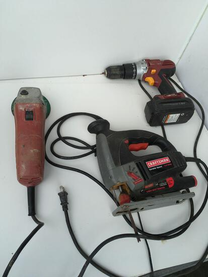 Craftsman Jig saw, Chicago electric drill and Skil ??.?