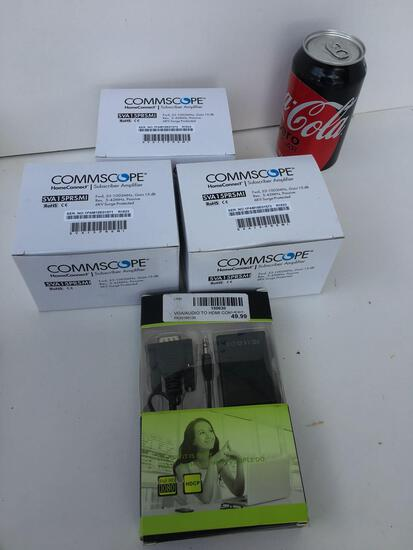Lot. 3) Commscope Homeconnect subscriber amplifiers, VGA/ Audio convert
