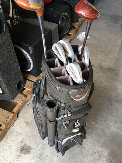 Datrek golf bag with BelAir, Slazenfer and 4) Prokennex golf clubs