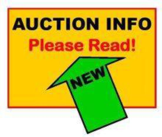 Important Auction Information please read. DO NOT BID ON THIS LOT #