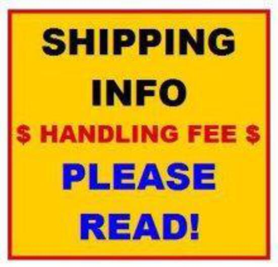 ***SHIPPING INFORMATION*** DO NOT BID ON THIS LOT #