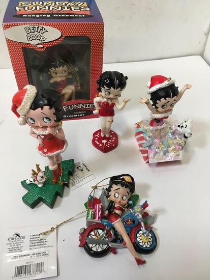 Collectible Christmas Betty Boop, ornaments and figurines