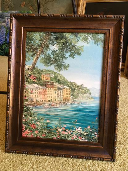 """Framed Oil painting, approximately 15"""" x 19"""""""