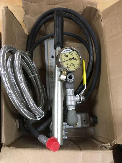 New, Wheeler Rex pipe tools, Hydrostatic Test Pump, model 29200 and 29201, 115v