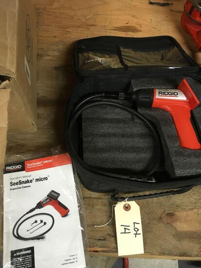 Ridgid Seesnake micro inspection camera. Needs battery