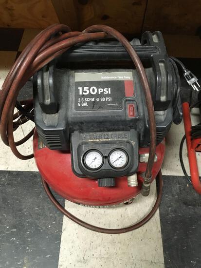 Air compressor, Porter Cable, mod C2002, type 5, 120v,