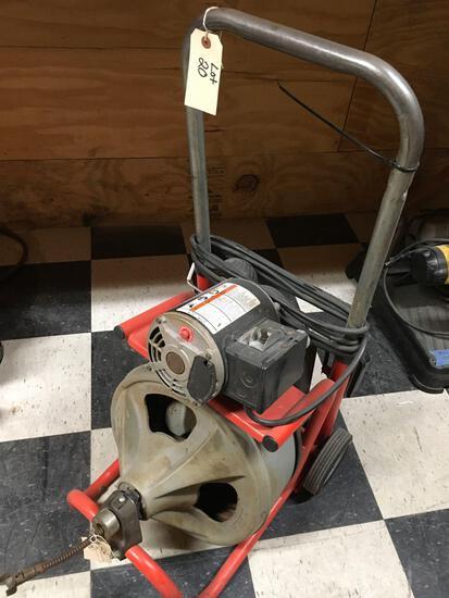 Ridgid Drum power snake, mod K400, 115v