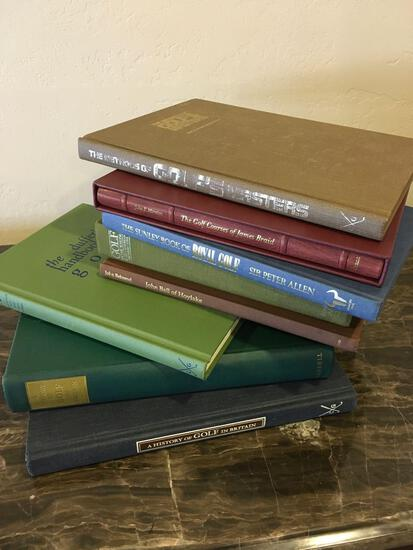 Assorted golf books. 8 books