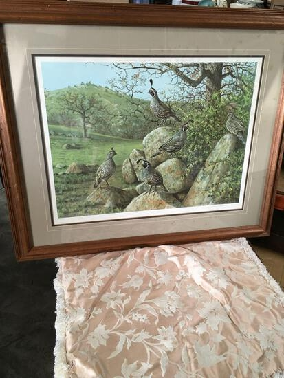 """O.J. Gromme?, 71, signed, framed approximately 28"""" x 34"""" wall art"""