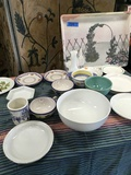 Lot of assorted dishes & Alpac tray 18