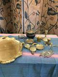 13 pieces. Vintage items and The Ferinze Collection Made in Italy tray 20