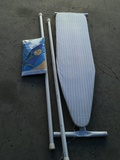 Ironing board, cover and PVC poles