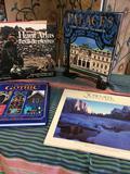 4 pieces. Victorian Gothic House style, Yosemite national park, Haut Atlas, Palaces