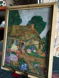 Signed Martha , has message in the back with date of 1933, framed art approximately 14