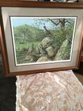 O.J. Gromme', 71, signed, framed approximately 28