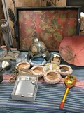 """Assorted decorative items & tray 15"""" x 21"""""""