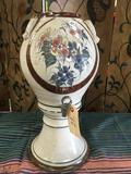 Decorative ceramic vase with dispenser. Approximately 17