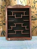 Vintage Oriental Wall cabinet. approximately 25