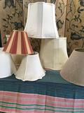 7 pieces. Assorted lampshades