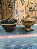 Large wood, decorative items. Approximately 7