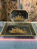 Vintage made in India trays. Tray with handles 2
