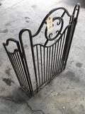 Vintage metal fireplace screen. Approximately 36